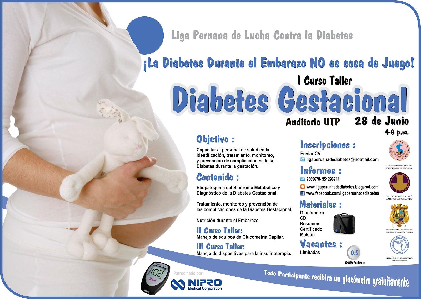 Curso Taller de Diabetes Gestacional