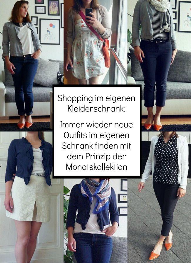 Immer wieder neue Outfits im eigenen Kleiderschrank finden mit dem Prinzip der Monatskollektion