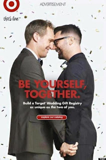 target gay wedding advert poster