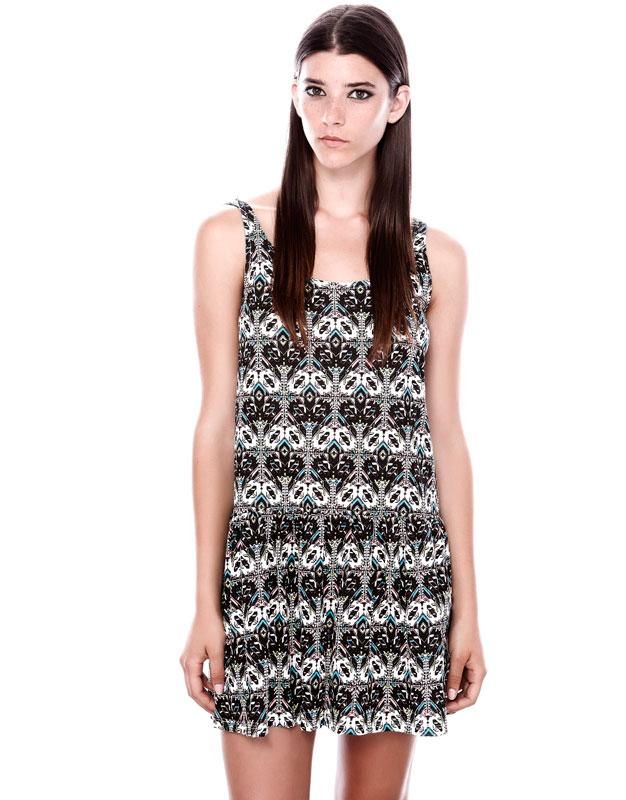 etnik desenli kısa elbise günlük elbise