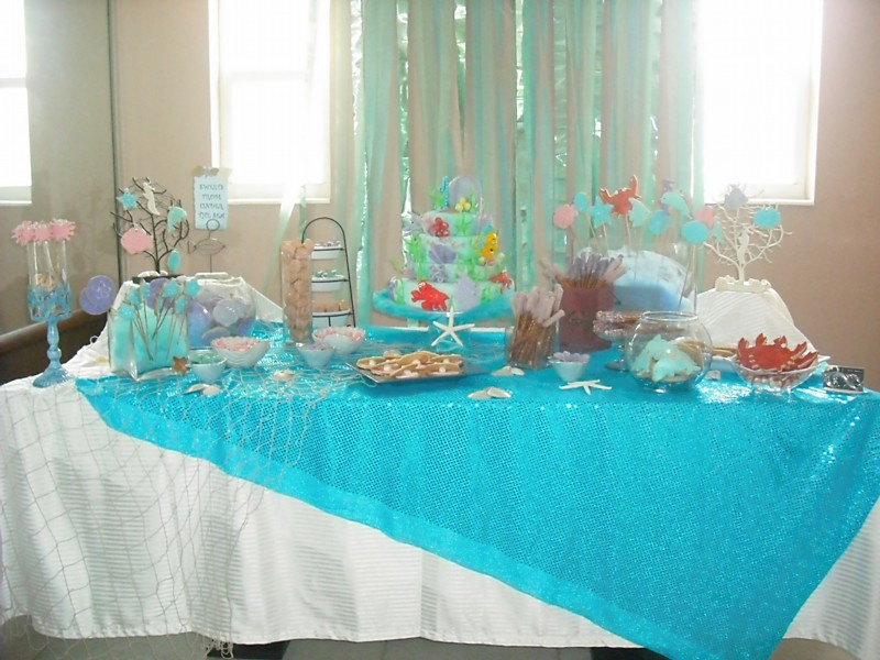 baby little mermaid baby shower little mermaid party