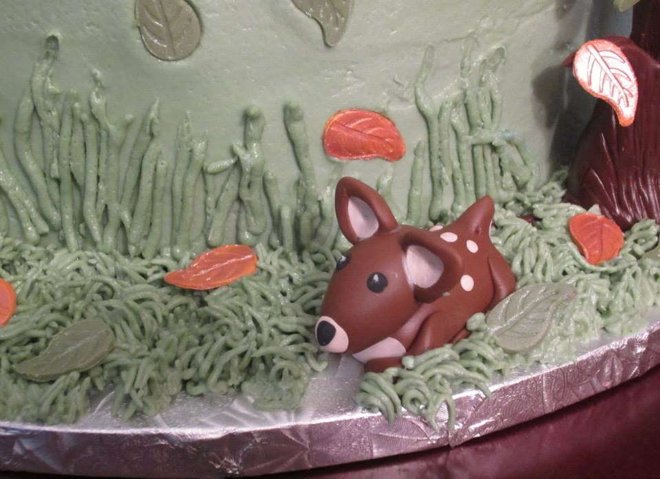 woodland creatures baby shower cake done for a friend bottom tier
