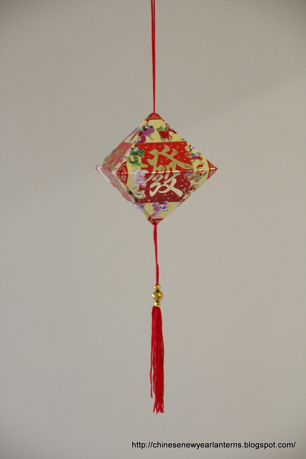 Chinese new year lanterns how to make a diamond - How to make chinese lantern ...