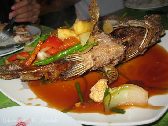 Fried fish dish at Koh Samet Island