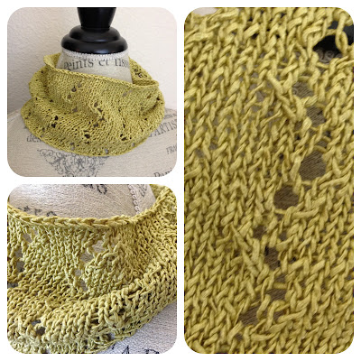 spring and summer outfits, this light zigzag lace cowl knits up fast