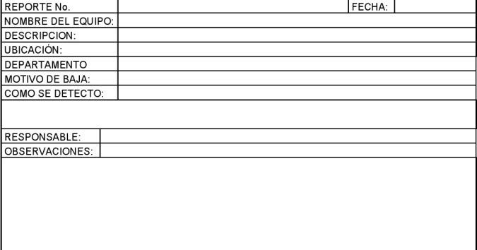 Tecnologias: 8.3 ELABORAR FORMATO DE REPORTE DE BAJA DE ...