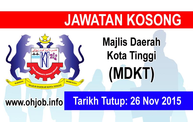Jawatan Kerja Kosong Majlis Daerah Kota Tinggi (MDKT) logo www.ohjob.info november 2015