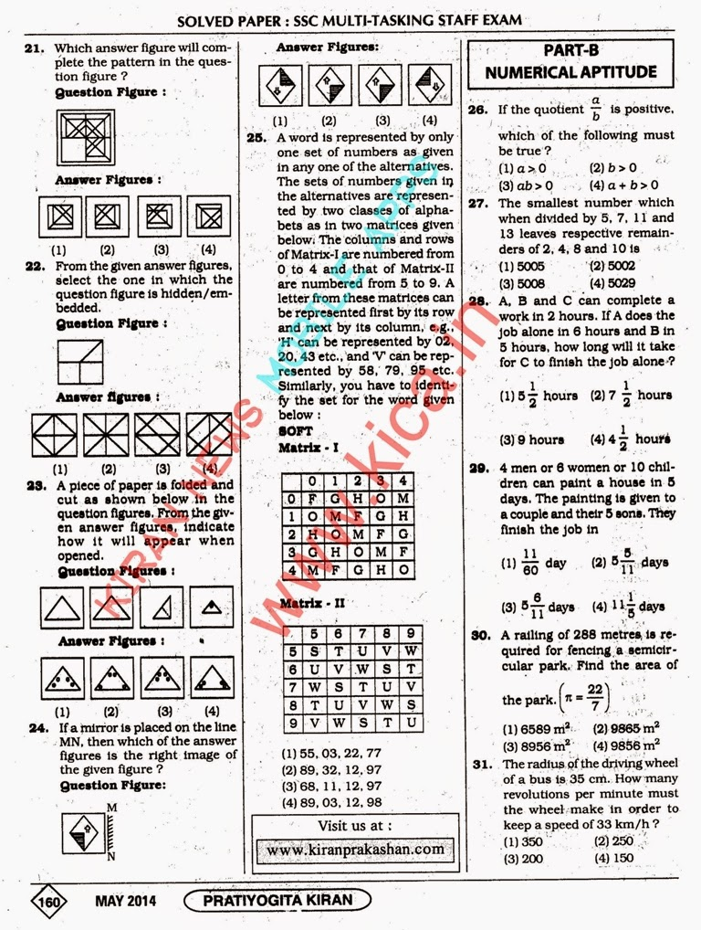 pratiyogita k for % off online book store k prakashan  ssc multi tasking staff exam solved papers dated 16 02 2014