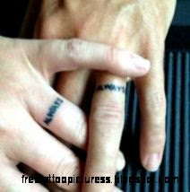 Wedding Band Tattoo on Pinterest  Tattoo Wedding Bands Marriage