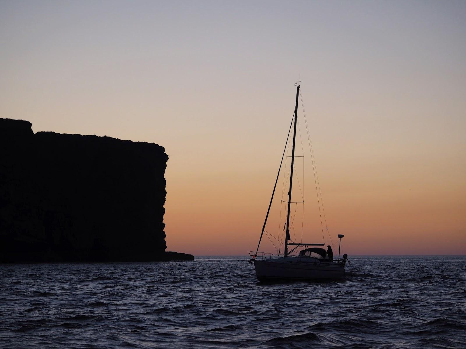 sailing near Sagres