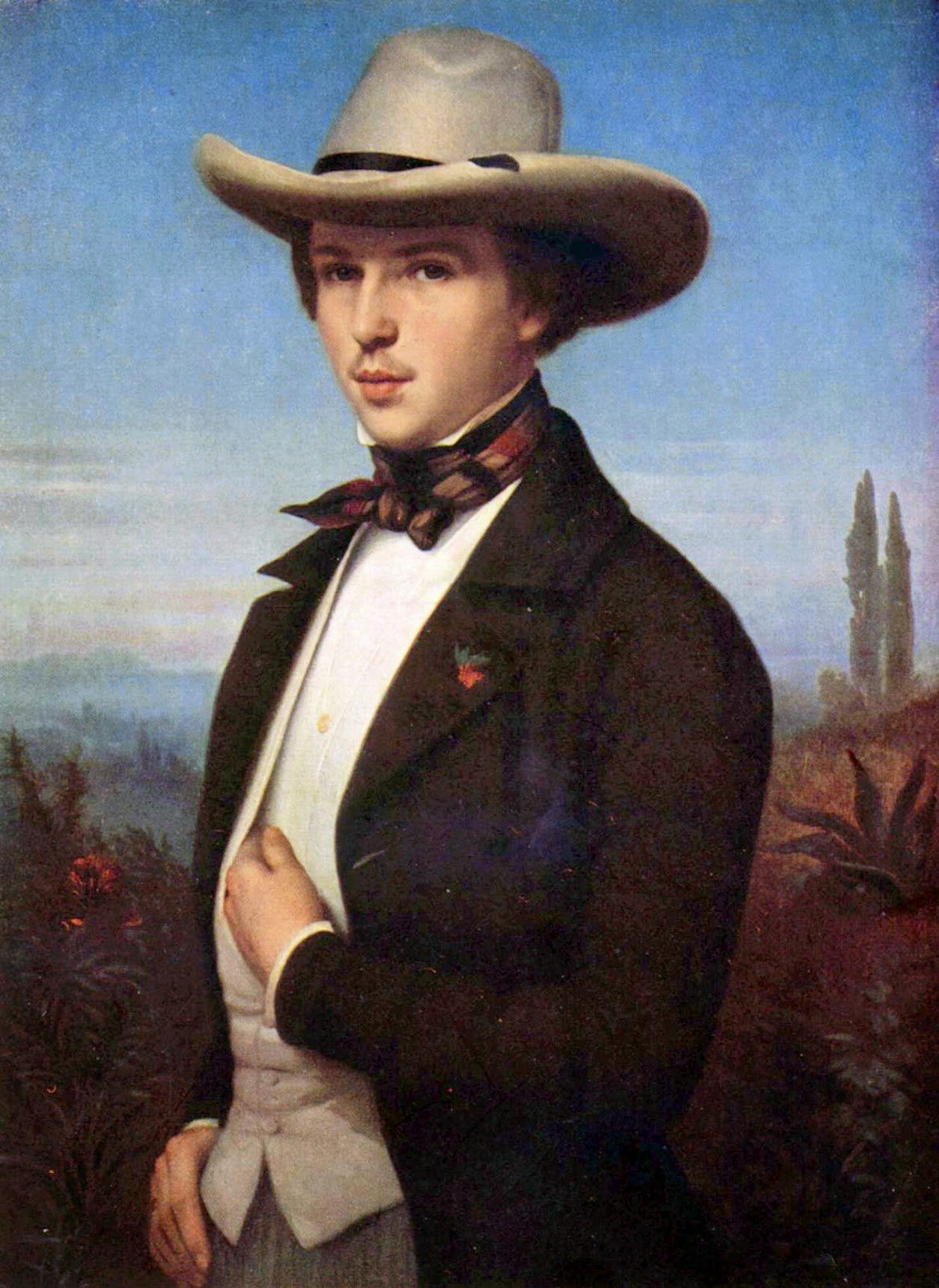 Oswald Achenbach portrait by Ludwig des Coudres