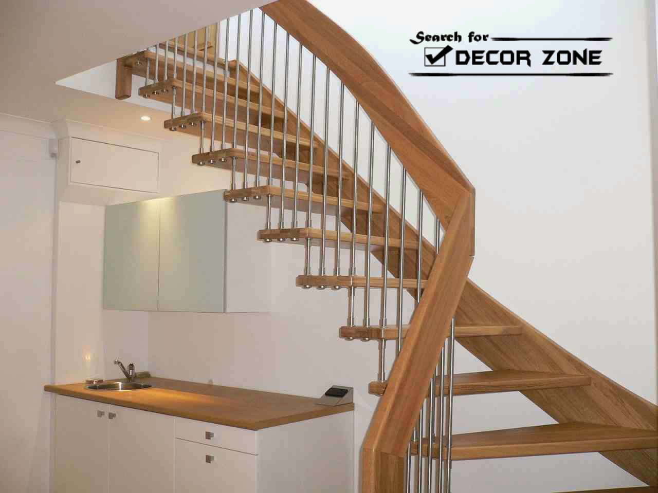 Wooden Staircase Designs With Wooden Railings