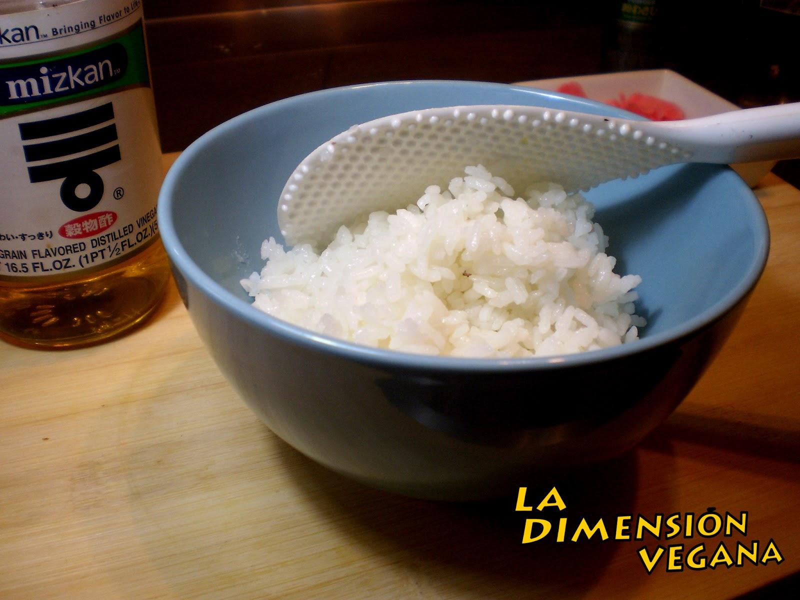 C mo preparar arroz para sushi la dimensi n vegana for Como hacer arroz para sushi