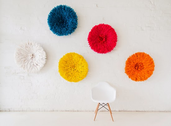 Safari Fusion blog | Feather your nest with our African headdress | Decorate your walls with a Bamileke Feather Headdress (juju hat) from Safari Fusion