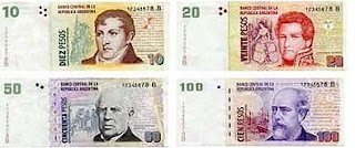 Equivalencia del peso argentino
