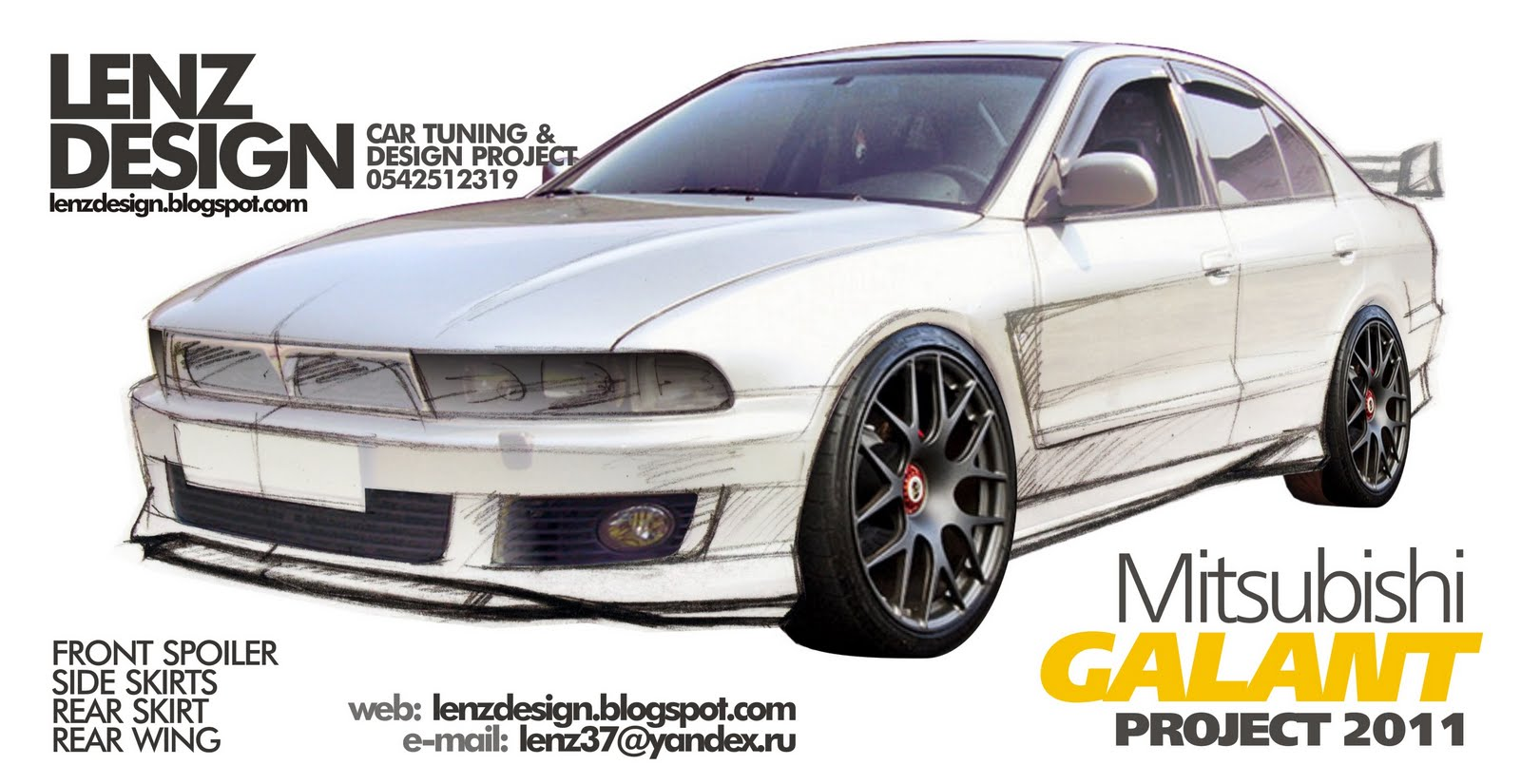 mitsubishi galant 8 tuning body kit in progress. Black Bedroom Furniture Sets. Home Design Ideas