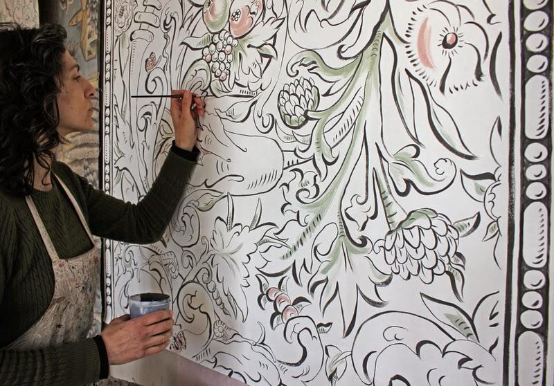 Melissa painting Bacchus artwork