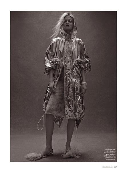 Emilio Pucci 2014 SS Editorial: Silver Nylon Summer Parka