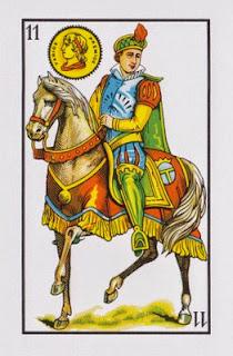 caballo de oros baraja española
