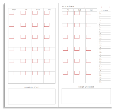 Clever image for free printable traveler's notebook inserts