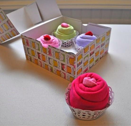 DIY, Cupcakes con Ropa de Bebes, Ideas para Regalar
