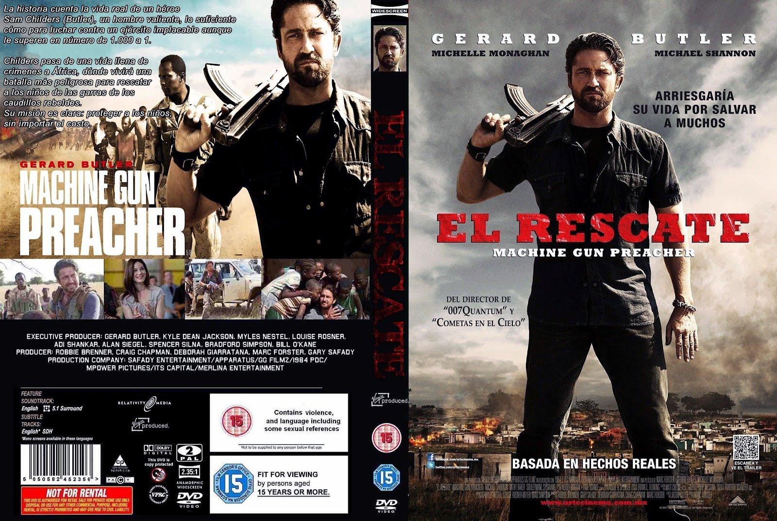El Rescate Machine Gun Preacher Front Dvd Cover
