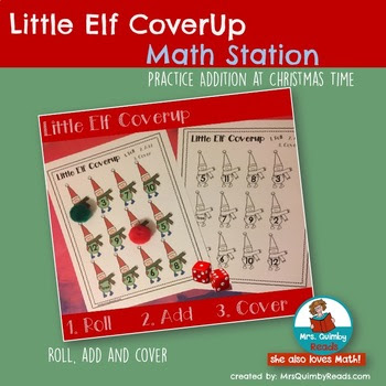 Elf Cover Up Game for Addition Practice