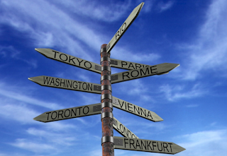 Travel Image Direction Signs