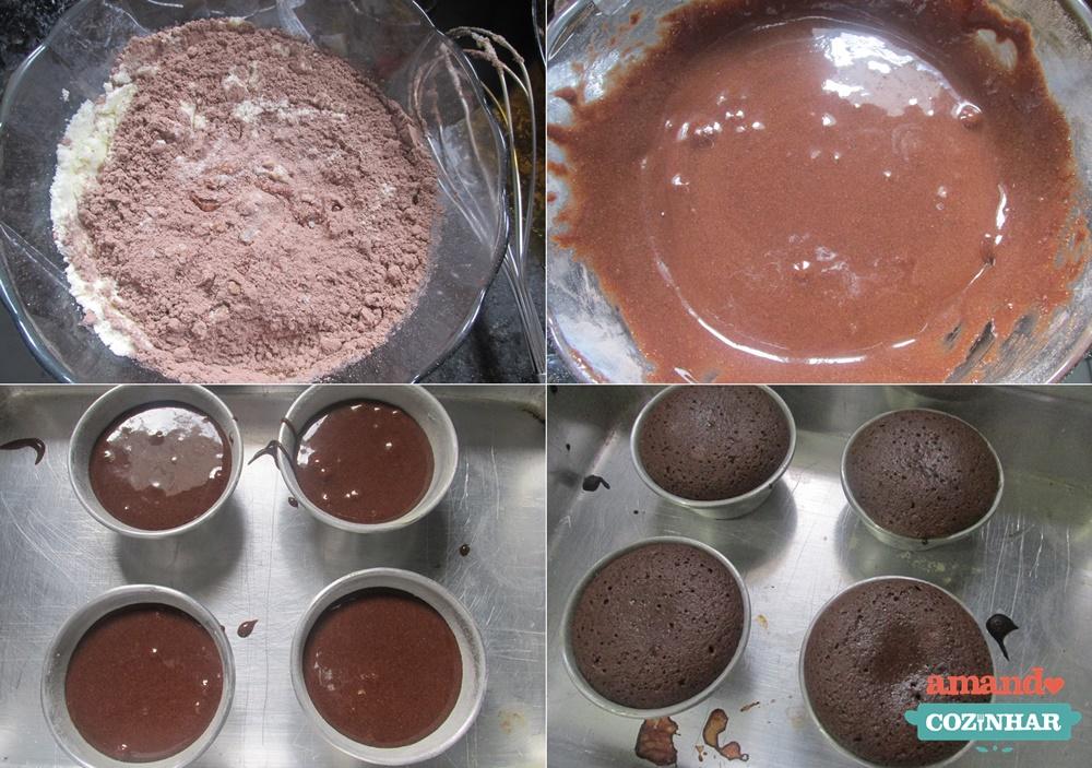Petit gateau de chocolate em po