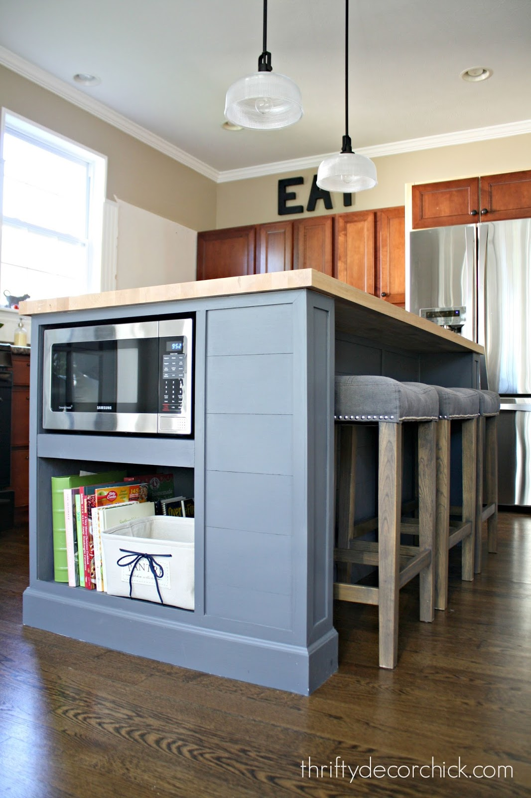 Kitchen island microwave - Adding Microwave In Island