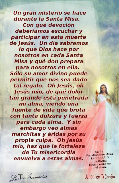 la santa misa diario la divina misericordia