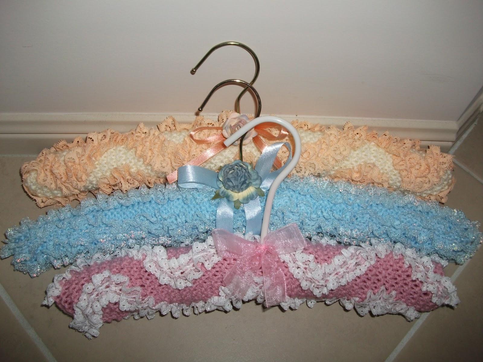 Knitting Coat Hanger Cover Patterns : Krafty kaylee new coathanger cover pattern