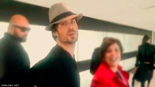Ian Somerhalder en Chile junto a Nikki Reed