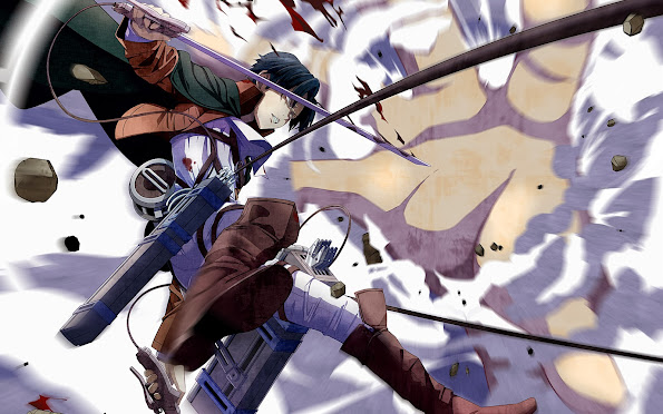 levi fighting Titan attack on titan shingeki no kyojin anime hd wallpaper 1920x1200