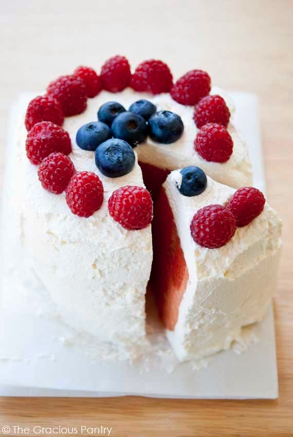 Watermelon Cake, Healthy 4th of July Recipes