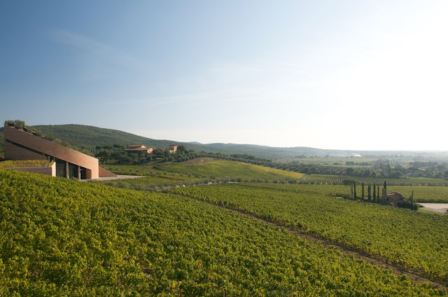 Petra Winery, vineyards and wine cellar by Mario Botta
