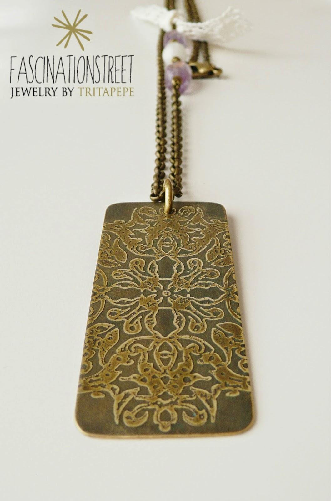 Fascinationstreet collana con ciondolo in ottone inciso - Come sapere se un messaggio e stato letto ...