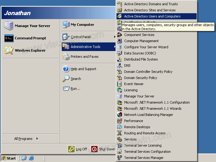 Pc tips tricks adding a computer to active directory - Installer console active directory windows 7 ...
