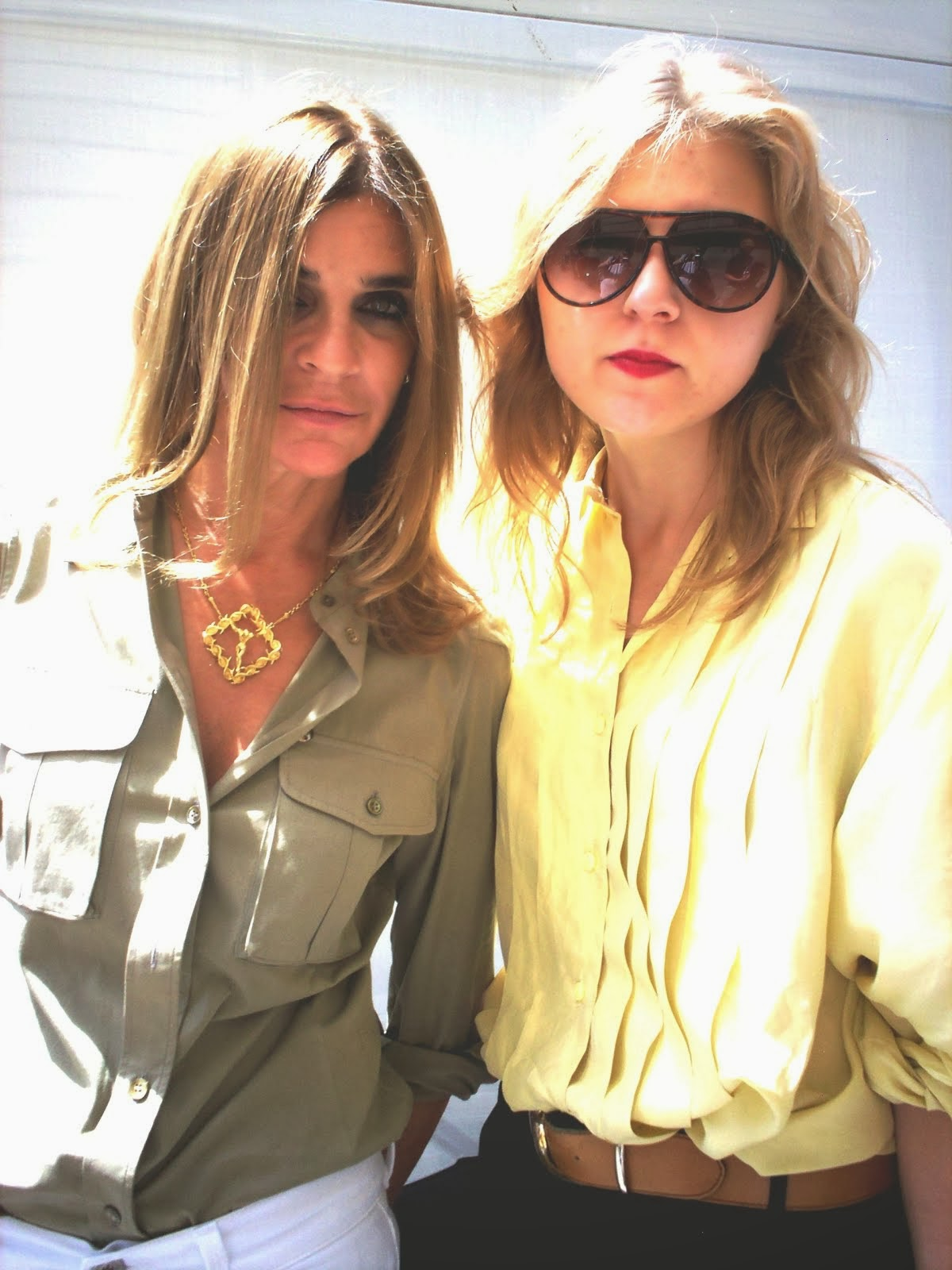 With Carine Roitfeld