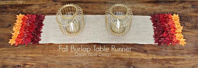 Fall Burlap Table Runner {No Sew!}