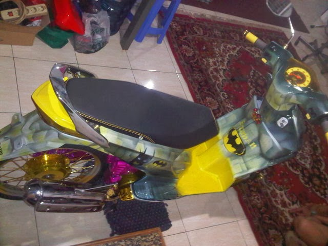 Foto Modifikasi Honda BeAT Full Airbrush Terbaru 2014