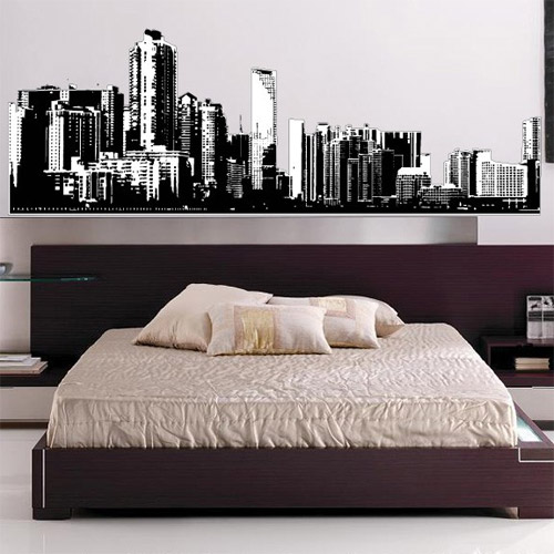 information for home planting 28 removable city wall stickers kids wall murals dark city 90