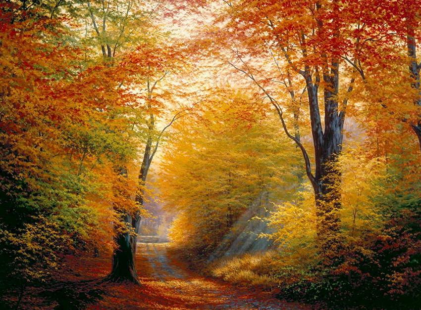 Cuadros modernos pinturas y dibujos oleos oto ales - Imagenes paisajes otonales ...