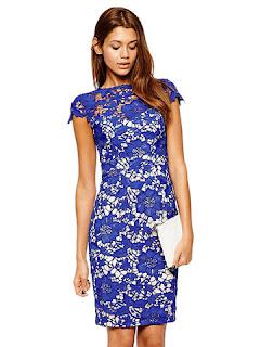 dress pesta motif bunga