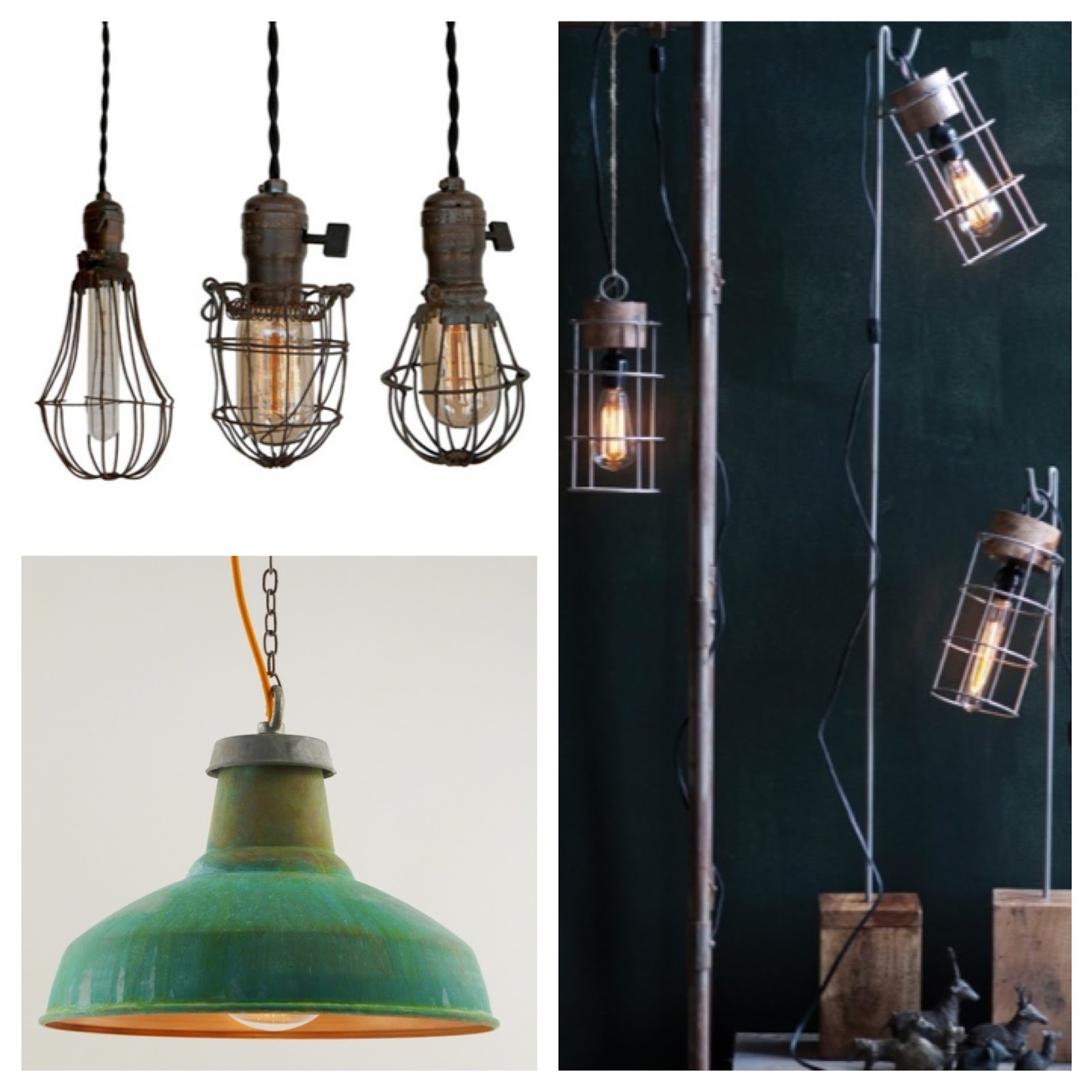 Trend alert industrial chic lighting Industrial style chandeliers