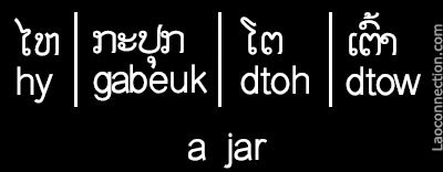 Lao Word of the Day:  4 Ways to Say Jar