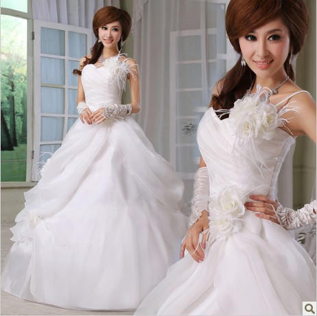 Pectis Minor Wear Underwear Wedding Dress Photo Small Chest