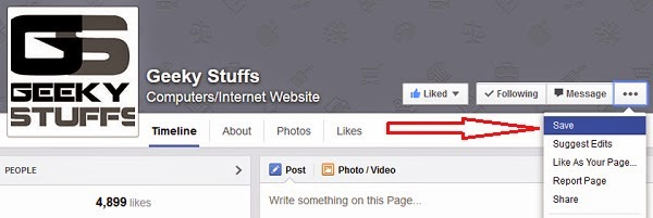 HOW TO : Use the Facebook Save to Read the Links, Pages and Places Later