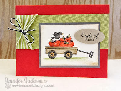 Wagon thank you card by Newton's Nook Designs