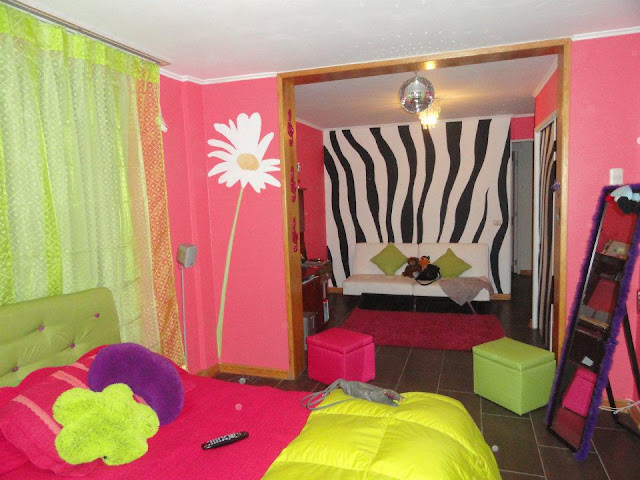 graffiti de izak zebra en habitación, chile